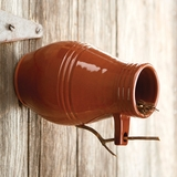 Monticello Redware Bird Bottle