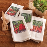 Monticello Seed Pack Set of 4 Cotton Dish Towels