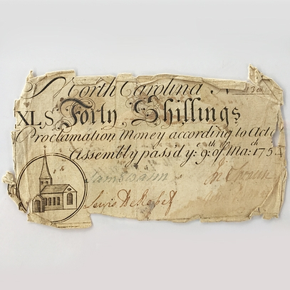 North Carolina Paper Money: Forty Shillings