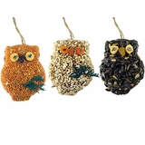 Owl Birdseed Ornaments