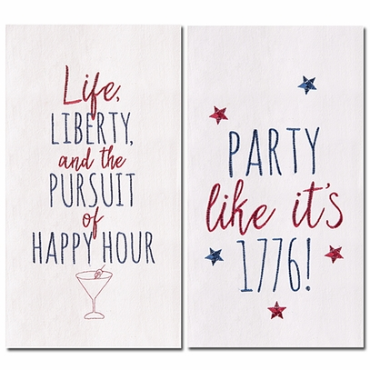 Patriotic Flour Sack Towels