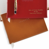 Personalized Brown Leather Guest Book