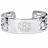 Personalized Chinese Railing Cuff Bracelet