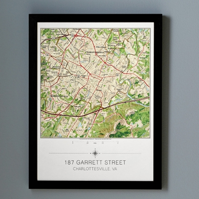 Personalized Hometown Map Print