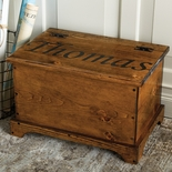 Personalized Solid Pine Trunk