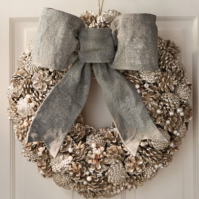 Pinecone & Pearl Wreath