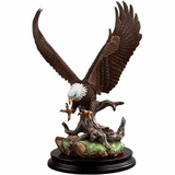 Porcelain Bald Eagle Sculpture
