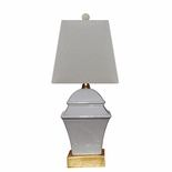 Porcelain Grey Square Lamp