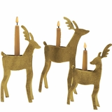 Reindeer Taper Holders  (Set of Three)