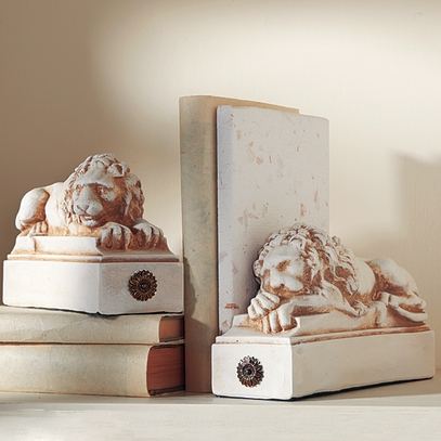Resting Lion Bookends