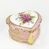 Rose Heart Shaped Music Box