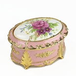 Rose Oval Music Box