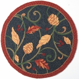 Round Fall Leaves Rug