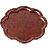 Scalloped Burlwood Tray