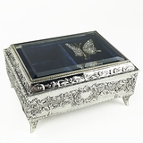 Silver Butterfly Music Box