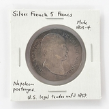 Silver French 5 Francs