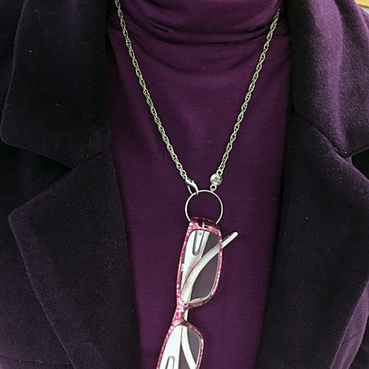 Silver Rope Eyeglass Necklace