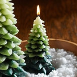 Small Woodland Tree Candle