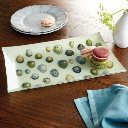 Speckled Egg Glass Plate