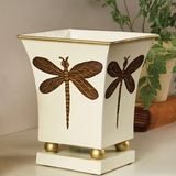 Square Dragonfly Cachepot