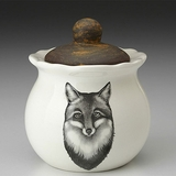 Fox Portrait Sugar Bowl