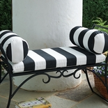 Striped Bench Cushion