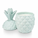 Sugared Ceramic Pineapple Candle