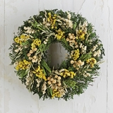 "Dried Summer Wildflower Wreath 16""D"