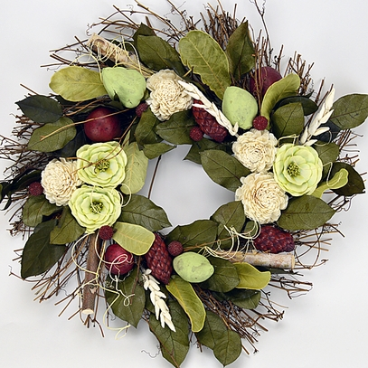 Sun Ripened Raspberry Scented Wreath