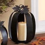 Tall Pumpkin Candle Lantern