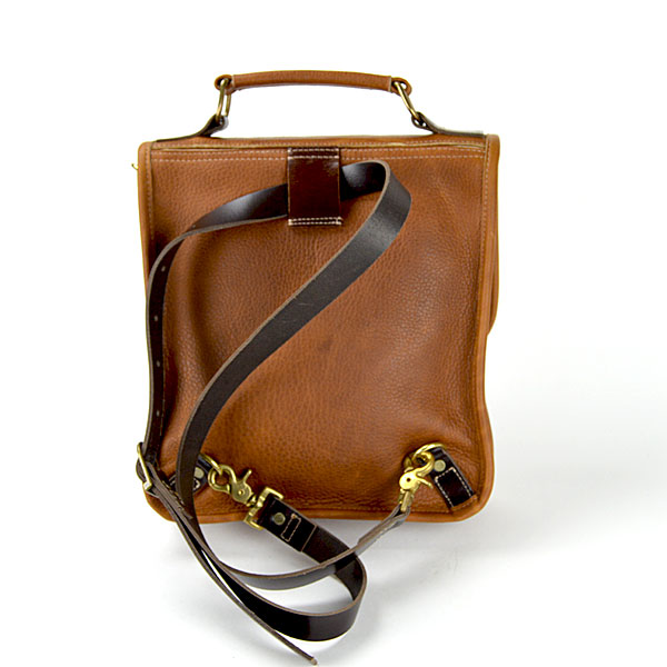 Leather Convertible Backpack Messenger Bag