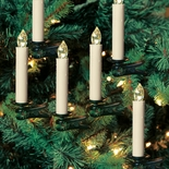 Ten Cordless Clip-on Candles