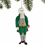 Thomas Jefferson Embroidered Ornament