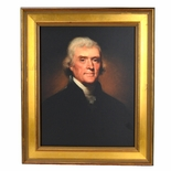 Thomas Jefferson Framed 1800 Portrait by Rembrandt Peale