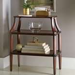Rosette Tiered Wood Console