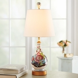 Tobacco Leaf Porcelain Lamp