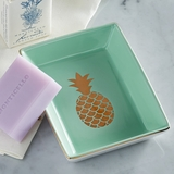 Tropical Pineapple Porcelain Tray
