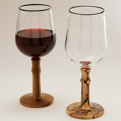 Tulip Poplar Wine Glass