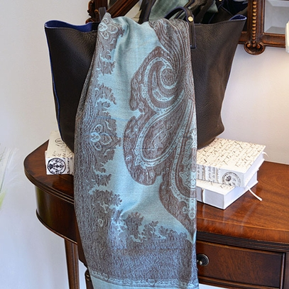 Turquoise & Brown Shawl