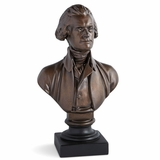 "Houdon 12"" Bronze Jefferson Bust"
