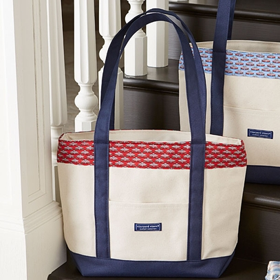 Vineyard Vines Red Monticello Tote