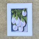 White Eggplant Notecard