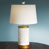White Lattice Lamp
