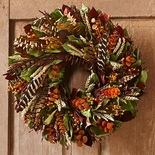 "Wild Feather Wreath 20""D"