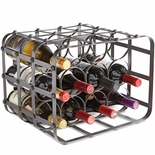Brushed Steel 12 Bottle Wine Caddy