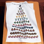 Twelve Days of Wine Lovers Christmas Dish Towels