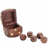 Wooden Dice with Box