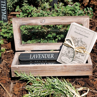 Wooden Herb Stakes with Heirloom Seeds
