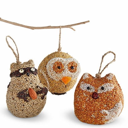 Woodland Friends Birdseed Ornaments