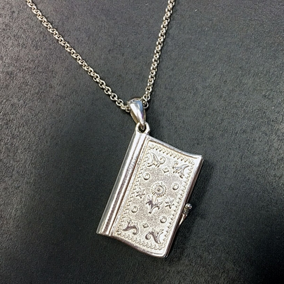 Words of Thomas Jefferson Book Necklace